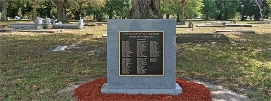 Fort Myers Cemetery- Indigent Monument